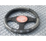 Vauxhall Vivaro van grey leather steering wheel cover- SW4M